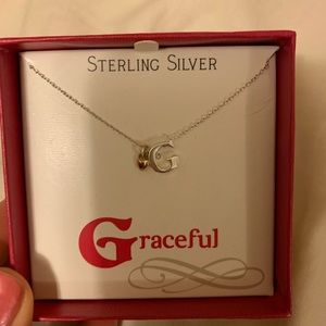 Jewelry - NIB Sterling Silver G Necklace